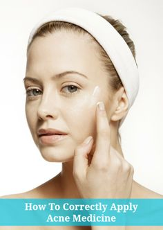 How to correctly apply topical acne medicine