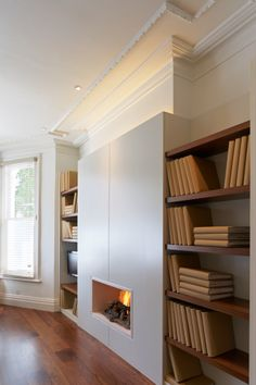 Be inspired by how John Cullen can help with your home office lighting with a range of products ideal for use throughout your home. Home Office Lighting, Flat Ideas, Cost Saving, Light Architecture, Lighting Design, Lighting Ideas, Joinery, Bookcase, Shelves