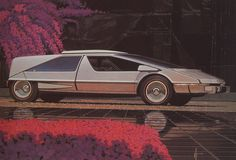 Сид Мид (Syd Mead): Japanese Car Concept, 1975 - Car Styling Magazine July Cover