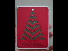 DIY Greeting Cards - How to Make a Christmas Card + Tutorial . - YouTube