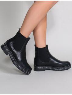 best website 3d9a7 89bf7 Glare Chelsea Boots in Black Chelsea Stiefel, Peep Toe, Stiefeletten
