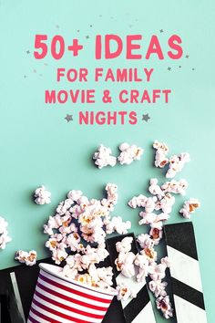 Discover: 50 Ideas for a Family Movie + Craft Night - barley & birch Free Activities For Kids, Summer Activities, Family Activities, Time Activities, Diy For Kids, Crafts For Kids, Movie Crafts, Family Crafts, Family Game Night