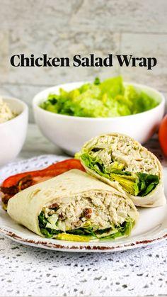 Healthy Desayunos, Easy Healthy Meal Prep, Good Healthy Recipes, Easy Lunch Meal Prep, Easy Healthy Lunch Ideas, Healthy Filling Meals, Healthy Cold Lunches, Healthy Lunch Wraps, Healthy Breakfast Wraps