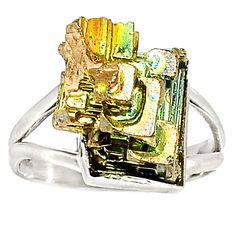 Bismuth Crystal 925 Sterling Silver Ring Jewelry s.9.5 SR184532 | eBay
