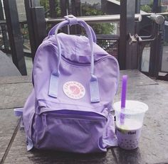 Lavender and pastel purple fjall raven kanken! Love the aesthetic