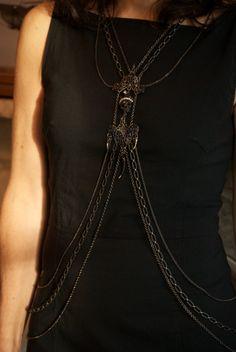 Vampire Jewelry Body Necklace. $126.00, via Etsy.