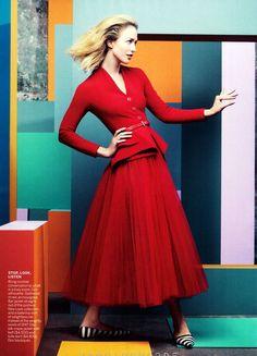 Raquel Zimmermann by Craig McDean for Vogue US December 2012