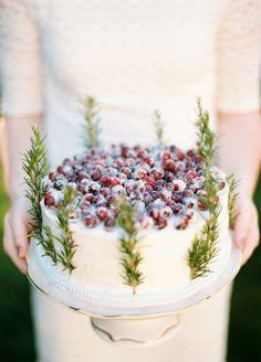 Sugared cranberry cake.