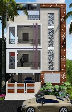94 Best Of Modern House Design Ideas ? 94 Best Of Modern House Design Ideas Front Wall Design, Exterior Wall Design, Facade Design, Architecture Design, 3 Storey House Design, Bungalow House Design, Best Modern House Design, Modern House Plans, House Outside Design