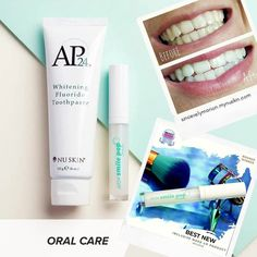 Nu Skin, Smile Whitening, Whitening Fluoride Toothpaste, Ap 24, Galvanic Spa, Brush My Teeth, Beauty Corner, Anti Aging Skin Care, Face And Body