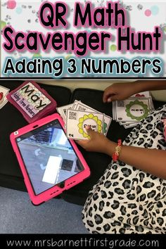 Going on a QR Scavenger Hunt is an awesome way to practice math standards! Practice adding three numbers! Download this resource to send your students on a fun adventure with self checking QR Codes! Hunts are aligned with Common Core Standards and and str