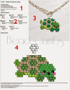 Seed Bead Designs and Other Crafts: Sample Bead Crumbs PDF Pattern, Bead Weaving… Peyote Stitch Patterns, Seed Bead Patterns, Weaving Patterns, Jewelry Patterns, Bracelet Patterns, Peyote Beading, Beaded Animals, Beads And Wire, Crystals