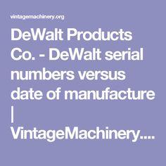 how to read dewalt serial number