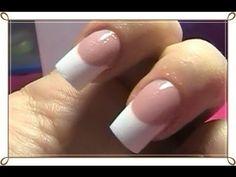 Cómo hacer una sonrisa perfecta en uñas acrílicas - Dual Sytem Forms - YouTube