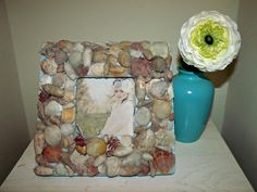 Handmade Sea Shell Picture Frame by StellabytheSea on Etsy, $18.00