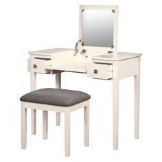 Linon Kayden Vanity Set - White