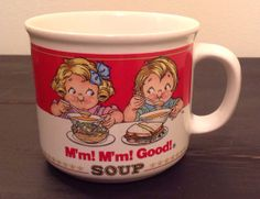 Hey, I found this really awesome Etsy listing at https://www.etsy.com/listing/175638563/vintage-1989-80s-campbell-soup-cup-mug