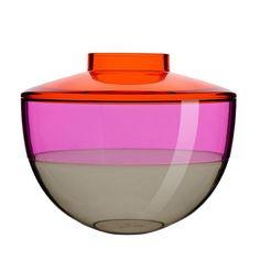 Shibuya Vase  orange/violett/rauch