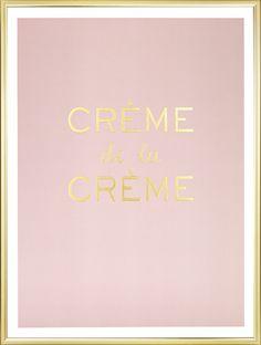 Poster met gouden print op roze achtergrond