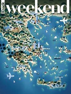 Map of Greece - Weekend magazine 4