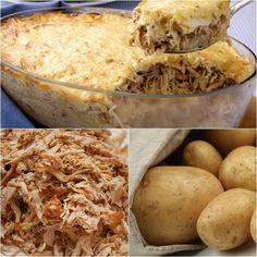 Aprenda fazer a Receita de Gratinado de Batata e Frango Cremoso. É uma Delícia! Confira os Ingredientes e siga o passo-a-passo do Modo de Preparo!