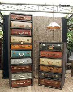 Old Suitcases in New Role