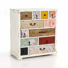 Schicke Kommode mit 16 Schubladen stilvoll im Vintage Look