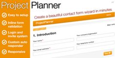 ProjectPlanner Contact Form Wizard