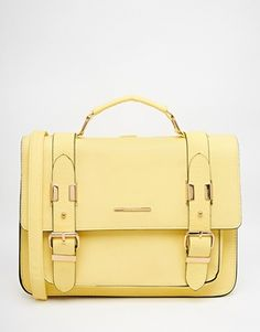 River Island Yellow Large Satchel