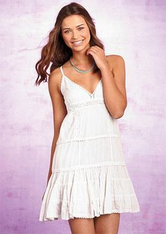 I love white dresses in the Summer