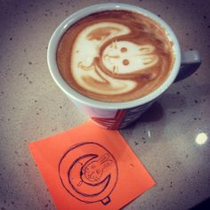 Moon Rabbit coffee art
