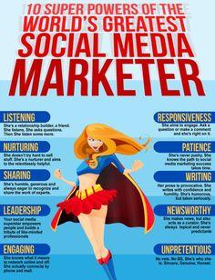 10 super powers of the world's greatest Social Media Marketer #infografia #infographic #socialmedia