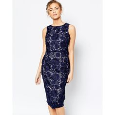 Coast Phillipa Artwork Lace Midi Dress in Navy (6 690 UAH) ❤ liked on Polyvore featuring dresses, navy, navy cocktail dress, white dress, lace midi dress, navy dress and white midi dress