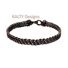 KALTY Designs - Designer Karen Laws. Oxidised wire braid bangle