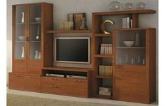 Tv Cabinet Wall Design, Tv Wall Cabinets, Tv Wall Design, Tv Unit Furniture, Furniture Design, Living Room Bookcase, Living Room Entertainment Center, Living Room Tv Unit Designs, Muebles Living
