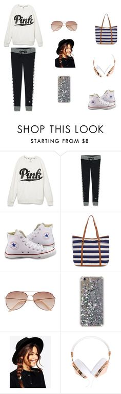 """""""Lazy Saturday Outfit"""" by jazmine-1222 on Polyvore featuring Victoria's Secret, Converse, Accessorize, H&M, ASOS and Frends"""