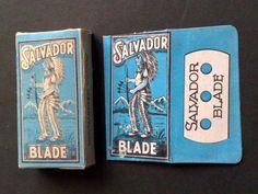 SALVADOR BOX WITH DOUBLE EDGE SAFETY RAZOR BLADE-VINTAGE