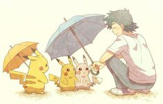 Beautiful ♡ Ash Ketchum and his Pikachu with wild Pikachu ^.^ ♡ I give good credit to whoever made this