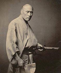 """""""Rare photograph of a true samurai, circa 1866. A..."""