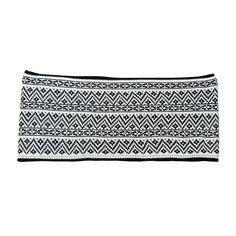 Black Aztec Fair Isle - Knit Loop Scarf for Men or Women at Amazon Women's…
