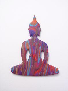 polymer clay buddha pendant Polymer Clay Pendant, Polymer Clay Creations, Birthday Candles, Buddha, Pendants, Disney Characters, Art, Art Background, Hang Tags
