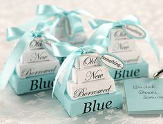 Something old, something new, something borrowed, something blue