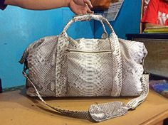 Travel phyton bag