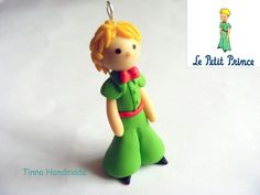 The little prince made out of polymer clay.