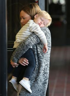 Hilary Duff & Her Sleepy Luca