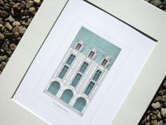 Antique Architectural Illustration of French Place by paperwords11, $15.00