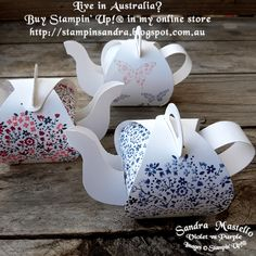 Teapot Spouts for the curvy Keepsake box - Sandra Mastello - Violet vs Purple Paper Crafts 3d Paper Crafts, Paper Crafting, Diy And Crafts, Crafts For Kids, Summer Crafts, Yarn Crafts, Fabric Crafts, Stamping Up, Keepsake Boxes