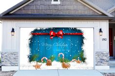 christmas garage door covers 3d banners christmas decorations outdoor billboard murals gd48