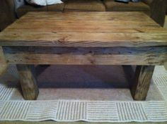 barn style coffee table by alabamawoodworks on Etsy, $450.00