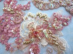Peach/gold applique by Magical Mystery Tuca, via Flickr